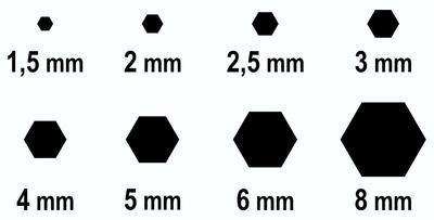IMBUS sada 8ks 1,5-8mm - 3