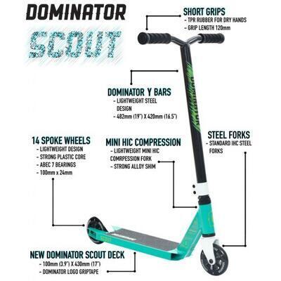 Freestyle koloběžka Dominator Scout Red White - 6