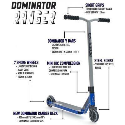 Freestyle koloběžka Dominator Ranger Red - 7